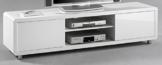 7.7.6.3031: modernes TV-Board - TV-Lowboard 180cm - weiss hochglanz - hochglanz weiss mdf - TV-Schrank weiss -
