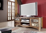 Altholz massiv mehrfarbig Massivmöbel Holz Lowboard Massivholz Möbel massiv Spirit #01 -