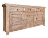 Chester Sideboard Lowboard Landhaus Anrichte Vintage Altholz Recycelt Mangoholz Lieferung Montiert -