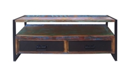 Dreams4Home Lowboard Massivholz 'Mauritius' TV Unterschrank Holz Antik Shabby -