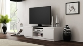 Galdem GATVWS TV Lowboard, Holz, weiß, 120 x 36 x 40 cm -