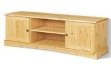 LifeStyleDesign 551044 Lowboard EMMA, 45 x 40 x 140 cm, kiefer, gebeizt gewachst -