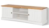 LifeStyleDesign 551062 Lowboard EMMA, 45 x 40 x 140 cm, kiefer, weiß honig -