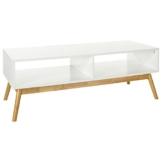 LOMOS® No.12 TV-/Lowboard aus Holz in weiß mit zwei Fächern im modernen skandinavischen Design -