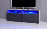 Lowboard / TV-Bank NOOMO weiß / anthrazit inklusive RGB-LED Beleuchtung -