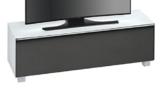 MAJA Möbel 7736 3673 Soundboard,  weißglas matt / akustikstoff schwarz, Abmessungen 140,20 x 43,30 x 42 cm -