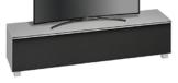 MAJA Möbel 7738 5773 Soundboard,  glas marmorgrau matt / akustikstoff schwarz, Abmessungen 180,20 x 43,30 x 42 cm -