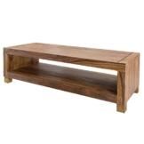 Massives Design TV-Board MADEIRA 110cm Sheesham Fernsehtisch Massivholz Tisch Wohnzimmertisch -