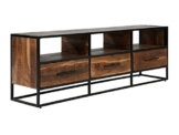 Massivum 10023661 Lowboard Oklahoma 3Schub, Holz, braun, 35 x 70 x 170 cm -