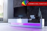 Modernes TV Lowboard hochglanz TWIST weiss inkl LED Farbwechsel -