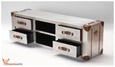Phoenixarts Industrie Design Vintage TV Sideboard Schrank Aluminium Truhe Lowboard Loft Möbel 501 -