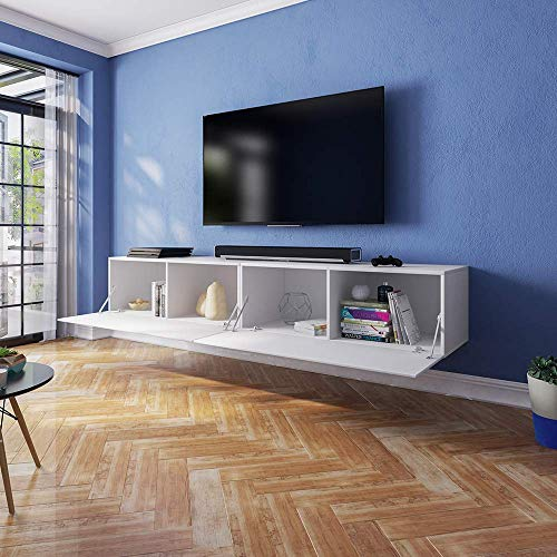 Selsey Lana - Fernsehschrank/TV-Lowboard mit LED Modern ...