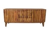 Sideboard Retro Plasma Mid Century Massivholz Sheesham Lowboard Strukturierte Front -