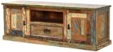 SIT-Möbel 9115-98 Lowboard, 2 Holztüren, 1 Schublade, 1 offenes Fach, 140 x 40 x 50 cm -