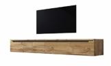 Swift - Fernsehschrank/Tv-Lowboard In Holzoptik Wotan Eiche Matt Hochglanz Hängend Oder Stehend 180 Cm - 1