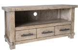 The Wood Times Lowboard TV Möbel Massiv Vintage Look Industrial Kiefernholz FSC Recycled, BxHxT 120x60x45 cm -