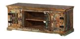 The Wood Times Lowboard TV Möbel Massivholz Vintage Look Delhi FSC Recycled, BxHxT 125x50x45 cm -