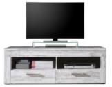 trendteam RV31868 TV Möbel Lowboard weiss Canyon Pinie Shabby Chic Retro Nachbildung, BxHxT 135x45x50 cm -