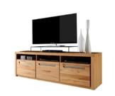 trendteam ZO32065 TV Möbel Lowboard, BxHxT 178 x 59 x 50 cm, Korpus Kernbuche Nachbildung und Fronten in Kernbuche massiv -