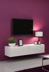 tv lowboards wei hochglanz online kaufen. Black Bedroom Furniture Sets. Home Design Ideas