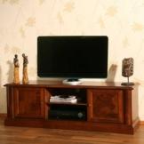 TV-Lowboard Alberto aus Nussbaum Antik Teilmassiv Pharao24 -