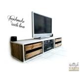 TV Lowboard aus Weinkisten, Palettenmöbel / Weinkistenmöbel / Upcycling. Weiss Reinweiss -