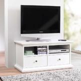 TV Lowboard im skandinavischen Landhausstil Weiß Pharao24 -