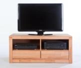 TV-Lowboard L Kernbuche massiv lackiert mit 2 Schubkästen -