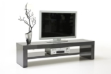 TV-Lowboard Messina mit 1 Boden (Farbe: Hochglanz grau) -
