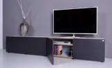 TV Lowboard NOOMO weiß - anthrazit -