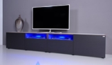 TV Lowboard NOOMO # weiß / anthrazit inkl. RGB-Beleuchtung mit Fernbedienung -