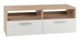 TV-Lowboard RASANT, Eiche Sonoma/weiss, 95x35x36 cm -