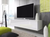 TV Lowboard Schrank Simple (200 cm, weiß matt / glänzend weiße) -