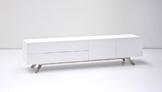 TV-lowboard, TV-Board, TV-Tisch, Lowboard bona matt weiß -