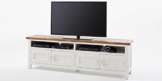 TV-Lowboard weiß Holz Byron Landhausstil Shabby Chic Vintage Möbel -