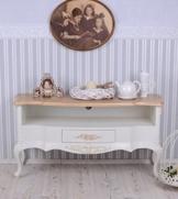 TV Regal Sideboard Landhausstil Wohnzimmer Fernsehschrank Weiss -