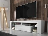 TV Schrank Lowboard Sideboard Tisch Möbel Board HURON (Weiß Matt / Weiß Hochglanz) -
