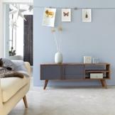 TV Unterschrank TV Möbel Hifi Lowboard Sideboard 150 cm Palisander Vintage 50ger -