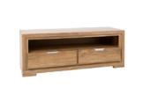 VISION 2836 TV Lowboard mit 2 Schubladen, Holz, natur,  40 x 117 x 45 cm -