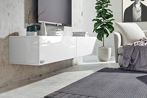 Wuun® Somero Korpus Weiß Hochglanz /200cm/Front Weiß ...
